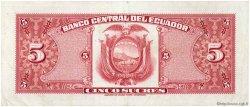 5 Sucres ÉQUATEUR  1970 P.100d SUP+