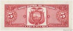 5 Sucres ÉQUATEUR  1973 P.100d SPL