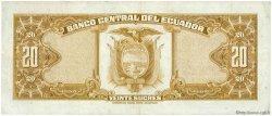 20 Sucres ÉQUATEUR  1976 P.110 TTB+