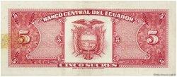 5 Sucres ÉQUATEUR  1960 P.113a TTB+