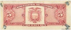 5 Sucres ÉQUATEUR  1979 P.113c TTB