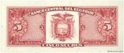 5 Sucres ÉQUATEUR  1988 P.113d NEUF