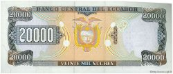 20000 Sucres ÉQUATEUR  1998 P.129c NEUF