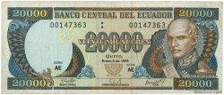 20000 Sucres ÉQUATEUR  1998 P.129c TB+