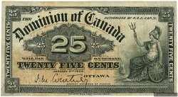 25 Cents CANADA  1900 P.009a TB+