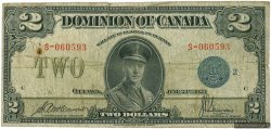 2 Dollars CANADA  1923 P.034h B+