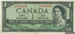 1 Dollar CANADA  1954 P.074a TTB