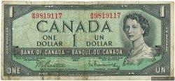 1 Dollar CANADA  1954 P.075b B