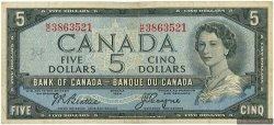 5 Dollars CANADA  1954 P.078 TB+