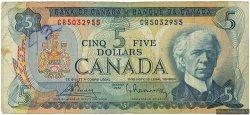 5 Dollars CANADA  1972 P.087a TB