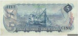 5 Dollars CANADA  1972 P.087b TTB+