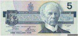 5 Dollars CANADA  1986 P.095a2 TTB+