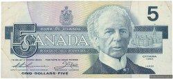 5 Dollars CANADA  1986 P.095b TTB