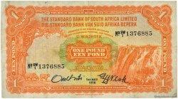 1 Pound AFRIQUE DU SUD OUEST  1958 P.011 TB