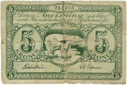 5 Kroner GROENLAND  1945 P.15b B+