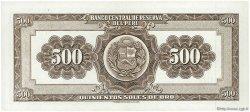 500 Soles de Oro PÉROU  1962 P.087a SPL