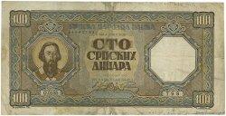 100 Dinara SERBIE  1943 P.33 TB+