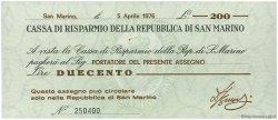 200 Lire SAINT-MARIN  1976 PS.102 SPL