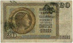 20 Dinara YOUGOSLAVIE  1941 P.R11 TB