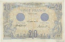 20 Francs BLEU FRANCE  1912 F.10.02 TTB
