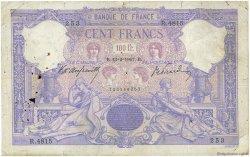 100 Francs BLEU ET ROSE FRANCE  1907 F.21.21 B