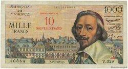 10 NF sur 1000 Francs RICHELIEU FRANCE  1957 F.53.01 TB