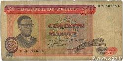 50 Makuta ZAÏRE  1973 P.16a B+