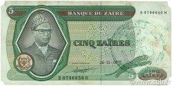 5 Zaïres ZAÏRE  1977 P.21b TB+