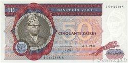 50 Zaïres ZAÏRE  1980 P.25a pr.NEUF