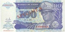 100 Nouveaux Zaïres ZAÏRE  1993 P.58s NEUF