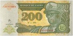 200 Nouveaux Zaïres ZAÏRE  1994 P.61a TTB+