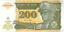 200 Nouveaux Zaïres ZAÏRE  1994 P.61a NEUF
