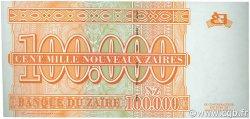 100000 Nouveaux Zaïres ZAÏRE  1996 P.76a NEUF