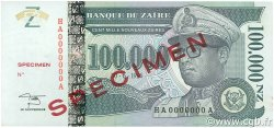 100000 Nouveaux Zaïres ZAÏRE  1996 P.77As pr.NEUF