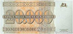 20000 Nouveaux Zaïres ZAÏRE  1996 P.72a NEUF