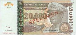 20000 Nouveaux Zaïres ZAÏRE  1996 P.72s pr.NEUF