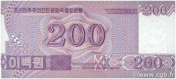200 Won CORÉE DU NORD  2008 P.62 NEUF