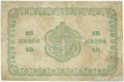 1 Krone NORVÈGE  1917 P.13a TB