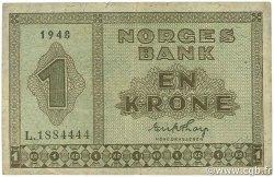 1 Krone NORVÈGE  1948 P.15b TB+