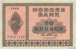 2 Kroner NORVÈGE  1948 P.16b TTB+