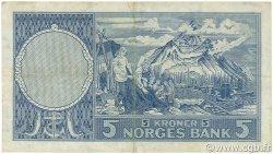 5 Kroner NORVÈGE  1960 P.30g TTB