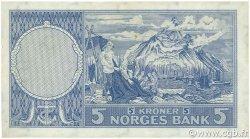 5 Kroner NORVÈGE  1960 P.30g TTB+