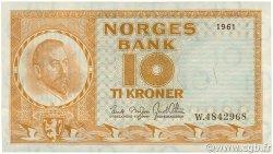 10 Kroner NORVÈGE  1961 P.31c