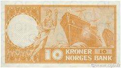 10 Kroner NORVÈGE  1961 P.31c SUP+