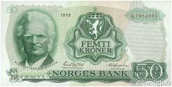 50 Kroner NORVÈGE  1975 P.37c TTB+