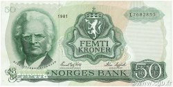 50 Kroner NORVÈGE  1981 P.37d TTB+