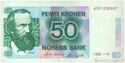 50 Kroner NORVÈGE  1985 P.42b TTB