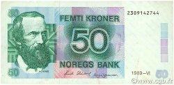 50 Kroner NORVÈGE  1989 P.42e TTB