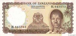 5 Shillings TANZANIE  1966 P.01a pr.NEUF