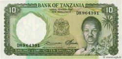 10 Shillings TANZANIE  1966 P.02e NEUF